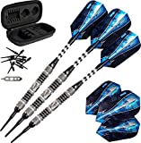 Viper Astro 80% Tungsten Soft Tip Darts with Storage/Travel Case, Black Rings, 18 Grams