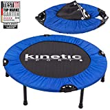 Kinetic Sports Fitness Trampolin, TOP Marke Testbild Auszeichnung!, Indoor Minitrampolin, Sprungtraining, Smart Jumping