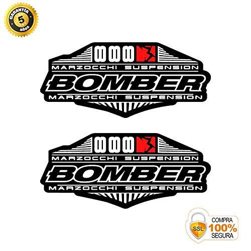 Pegatinas Horquilla para Bicicleta Modelo Bike Marzocchi Bomber 888 Suspension 2010-11 Negro 26
