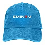 Sconosciuto Berretto da Baseball Regolabile per Uomo e Donna Eminem Fashion Washed Regolabile Cappello Nero