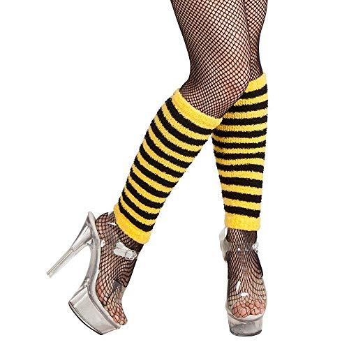 Boland 01718 - Beinwärmer Honigbiene, Einheitsgröße, gelb / schwarz
