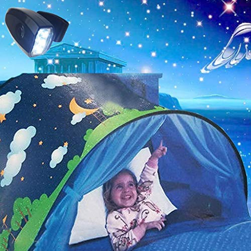LAMPSJN Tiendas Infantiles Animal Park Play Tent Pop Up Play House Ball Pit Tent Tent Plegable Teepee for niños Niñas, Niñas al Aire Libre for niños, cumpleaños, Tienda semicircular, Fáci