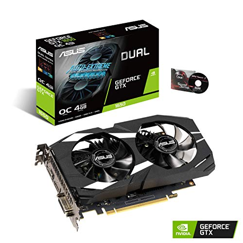 ASUS GeForce GTX 1650 Overclocked 4GB Dual-Fan Edition VR Ready HDMI DP 1.4 DVI Graphics Card...
