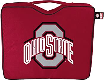 NCAA Lightweight Stadium Bleacher Seat Cushion with Carrying Strap Ohio State Buckeyes