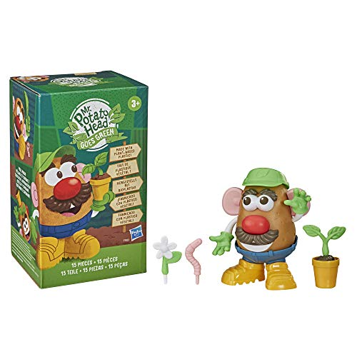 Mr Potato Head Goes Green Toy for Kids Ages 3 and Up, Made with Plant-Based Plastic and FSC-Certified Paper Packaging (Amazon Exclusive), 1 EA