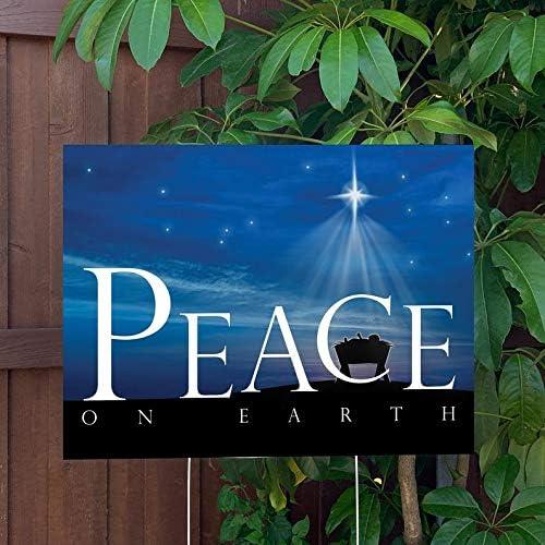 Peace On Earth Christmas 24x18 favorite Decor Super sale Yard Sign