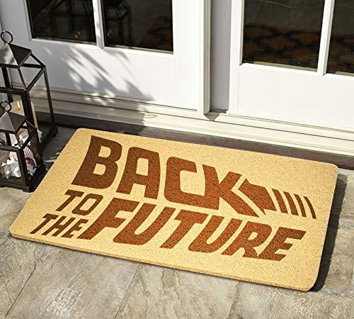"""StarlingShop Back to the Future - Felpudo de bienvenida con texto en inglés """"Back to the Future"""", ideal para decoración al aire libre, regalo de cumpleaños"""