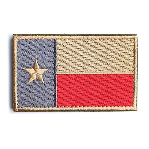 showplus US State Flagge Tactical Moral Patch Applikationen Texas Red