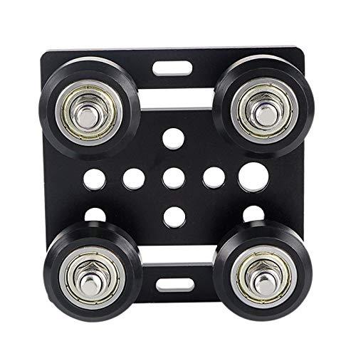 Timagebreze 3D Printer Accessories for V Slot European Standard 2020 Aluminum Profile Pulley V-Slot Build Gantry Plate
