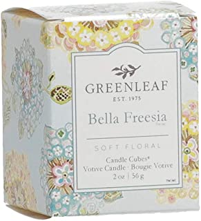 GREENLEAF Scented Votive Candle - Bella Freesia - Burns 15 Hours - Made in The USA