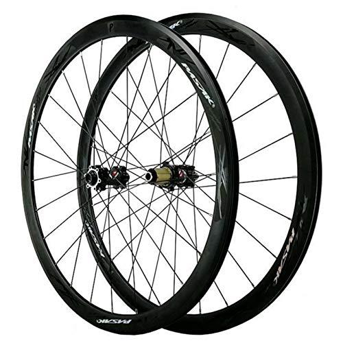 Bicicleta de Carretera Ruedas 29'',Llanta para 700C Eje de Barril 15mm Freno Disco Freno V/C Volante de Inercia 7/8/9/10/11/12 Velocidades (Size : 15mm)