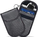 Faraday Bags,GICENT Faraday Bag for Key Fob (2 Pack) Car RFID Signal Blocking Faraday Pouch,Key fob Protector, Black Antitheft Products, Remote Entry Smart Key Fob Case