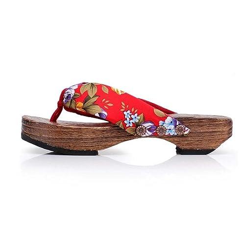 52fc00f684d RAISINGTOP Summer Spring Platform Shoes Wood Women Sandals Clogs Thong  Wooden Slippers de Mujer Flip Flops