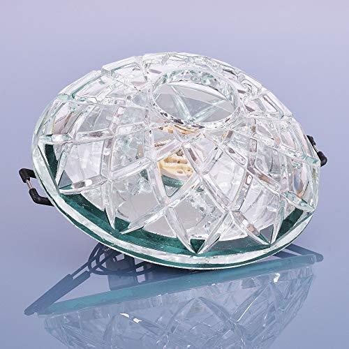 Glas Einbaustrahler mit G9 Fassung 230V Spot Deckenleuchte Deckenspot Einbauleuchte Kristall Einbauspot, Design 1