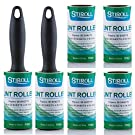 Lint Rollers for Pet Hair, Extra Sticky Value Pack with 2 Rollers and 6 Refills (90 Sheets per Refill, Total 540 Sheets) …