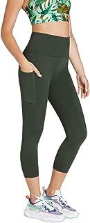 Rockwear Activewear Women's Luau 7/8 Seam Detail Pocket Tight from Size 4-18 for 7/8 Length Bottoms Leggings + Yoga Pants+...