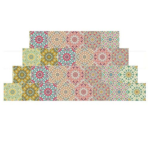 Leileixiao Adhesivo adhesivo para azulejos de cerámica de 20 x 500 cm, impermeable, 3D, para pared, sala de estar, dormitorio, cocina (color: 6)