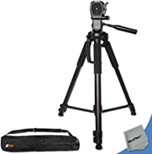 Durable Pro Grade 72 inch Full Size Tripod with 3 Way Pan-Head, Bubble Level Indicator, 3 Section Aluminum Alloy Lock in Legs for Sony PMW-EX1 Camcorder Plus Convenient Backpack Style Carrying Case