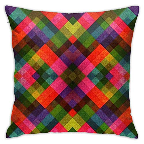 Fundas de Almohada, Fundas para Cojines de Lino Funda de Almohada Papel Multicolor Funda Cojin Decorativa de Casa para sofá Dormitorio Coche,45x45CM