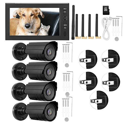 DAUERHAFT Sistema inalámbrico de cámaras de Seguridad con Tarjeta 32G, detección(American Standard (110-240V))