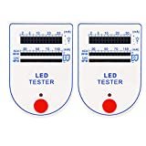 HiLetgo 2pcs LED Test Box Tester 2~150mA Mini Handy for Light-Emitting Diode Lamp Bulb Battery Tester Handy Device LED Tester