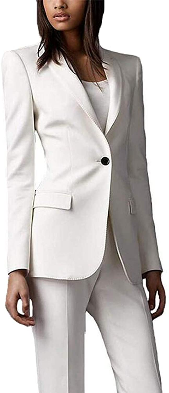 TOPG Womens Notch Lapel Two Pieces Suits Business Suits Blazer for Work Slim Fit Womens Suits