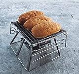 19 cm portátil durable barbacoa parrilla al aire libre fuego fosas astilla de acero inoxidable plegable barbacoa parrilla al aire libre camping picnic herramienta regalo
