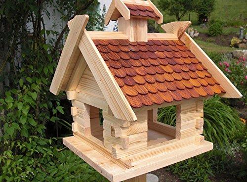 Vogelhaus Vogelhäuser-(V05)-Vogelfutterhaus Vogelhäuschen-aus Holz-DHL-XXXL Braun