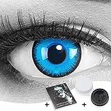 Farbige Kontaktlinsen Meralens 1 Paar Cosplay Manga Crazy Fun blaue Jahres Linsen Alper mit gratis Linsenbehälter. Perfekt zu Halloween