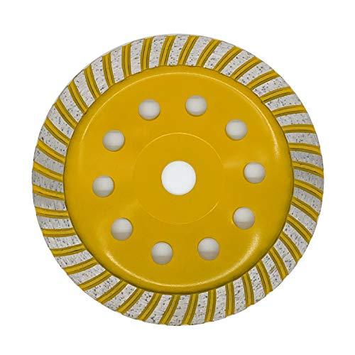 APLUS Diamant Schleiftopf Turbo 180mm x 22,2mm Topfschleifer Topfscheibe doppelreihig für Beton Stein Mauerwerk