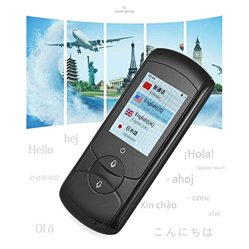 JUNword 4G 32G Smart Voice Translator 2.4G WiFi Instant Traductor Interpreter 41 Languages Portable Language Translator 2.0' Touchscreen