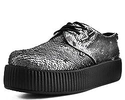 Unisex-Adult Creepers Gunmetal Two-Way Sequin Shoe