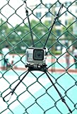 Action Camera Backstop Chain Link Fence Mount for Action Camera/Digital Camera/Smartphone - Ideal Backstop Camera Mount for Recording Baseball,Softball and Tennis Games (3 in 1)