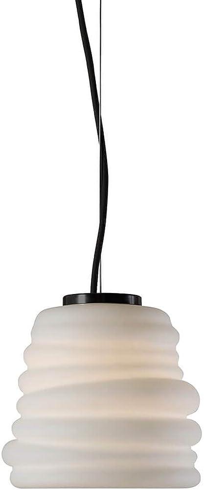 Karman bibendum led, lampada a sospensione Ø15 cm, con paralume in vetro bianco satinato SE198AD INT