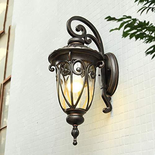 SXFYWYM Outdoor wandlamp, retro, waterdicht, balcony aisle, aluminium tuin, wandverlichting