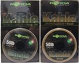 Korda Kable Leadcore 7M Karpfenvorfach, Vorfachschnur Für Karpfenmontagen, Karpfenangeln, Carprigs, Farbe.Weed (Grün)