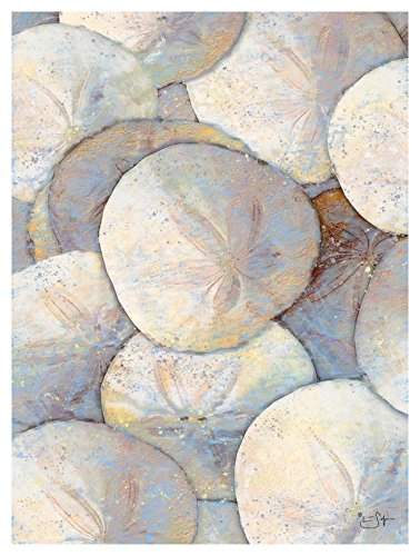 Sand Dollar Collection Painting Giclee Art Print Poster from Original Artwork by Artist Lisa Sofia Robinson 9' x 12'