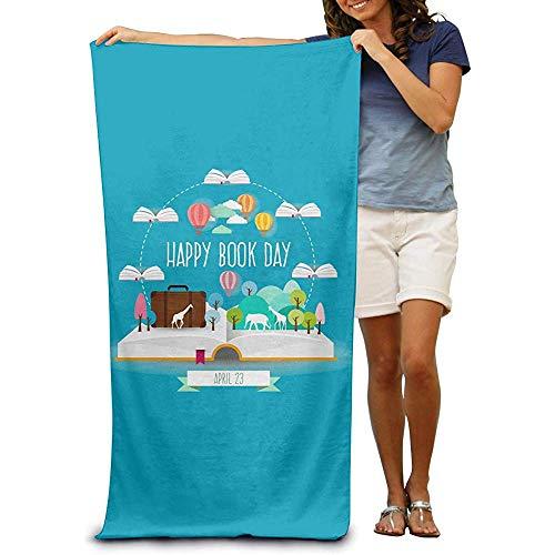 utong 100% Baumwolle Strandtücher 80x130cm Quick Dry Handtuch für Schwimmer World Reading Day Beach Blanket