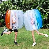 Keenstone (Two Bumper Balls) Inflatable Bumper Ball 1.2M/4ft 1.5M/5ft Diameter Bubble Soccer Ball Blow Up in 5 Min Inflatable Bumper Bubble Balls for Adults