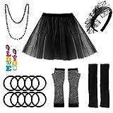 selizo 80s Accessories for Women, 80s Costumes for Women Black