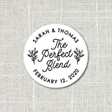 The perfect blend sticker, Coffee favors, Wedding favor stickers, Tea favors, Party Favor Stickers, wedding favor labels F16:33