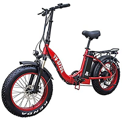 Electric Bike for Adults, Folding Electric Bicycles with 20 Inch Fat Tire 750W Motor 48V 13AH Removable Battery, Beach Snow Hunting E-Bikes for Women Men Elder (red)