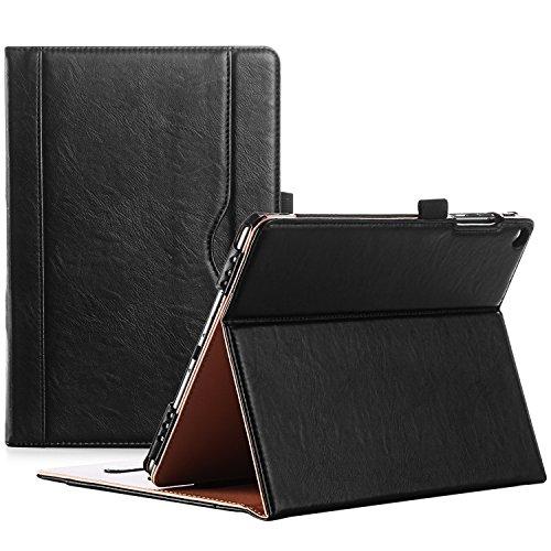 ProCase Custodia per ASUS ZenPad 3S 10 Z500M - Custodia Stand Folio per ASUS ZenPad 3S 10 Tablet,con Angoli di Visuale Multipli, Tasca per Schede Documenti -Nero