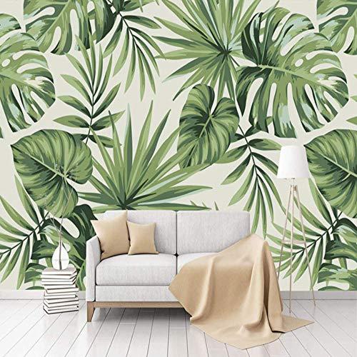 Yologg Moderne Einfache Fototapete 3D Regenwald Pflanze Bananenblatt Hirten Wandbilder Restaurant Wohnzimmer Schlafzimmer Tapeten 3D Dekor-120X100Cm