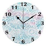 Jacque Dusk Reloj de Pared Moderno,Boho Geometricdala,Grande
