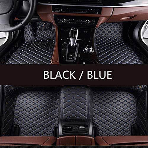 Super1Six 3D Auto Leder Fußmatten, Für Kia Rio K3 K5 K7 Sportage Seele Cerato Forte Opirus Optima Sorento Carens Karneval Bongo3 Karneval,Black and Blue,Wheel Right
