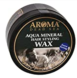 Aroma Dead Sea Aqua Natural Mineral Hair Styling Wax Minerals for Men and Women Strong Hold Without The Shine All Hair Types 100ml/4 fl.oz