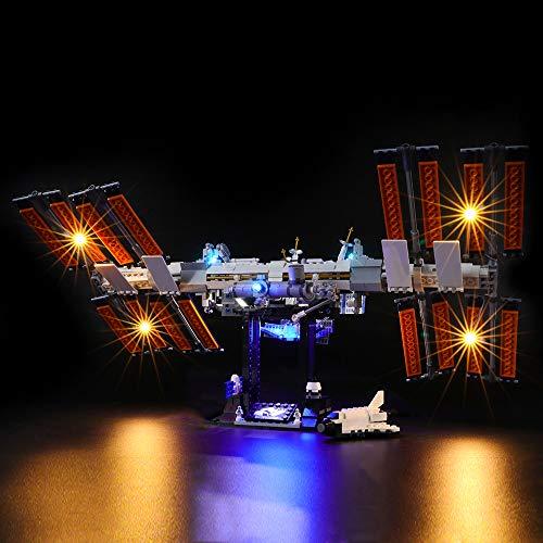 LIGHTAILING Conjunto de Luces (Ideas Internacional Espacio Estación) Modelo de Construcción de Bloques - Kit de luz LED Compatible con Lego 21321 (NO Incluido en el Modelo)