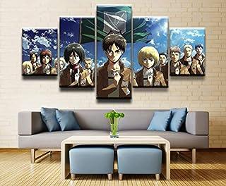 Baobaoshop Mordern Toile Mur Art Photos HD Prints Peintures 5 Pièces Attaque Anime sur Titan Personnages Posters Décor À L...