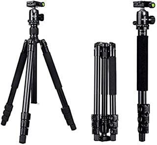 Professional Aluminum Tripod Portable Travel Tripod Monopod with 360/° Panoramic Ball Head and Carrying Case for Camera//Digital SLR Camera Travel Tripod EPCMTTC Camera Tripod Camera Tripod
